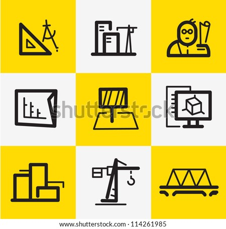 Architecture icons stock photos images pictures for Architecture icon