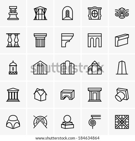 Architecture icons stock vector 184634864 shutterstock for Architecture icon