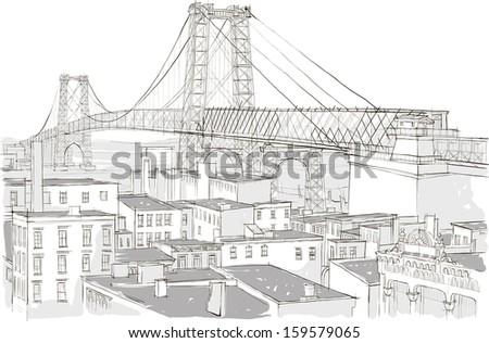Architecture - Illustration - stock vector