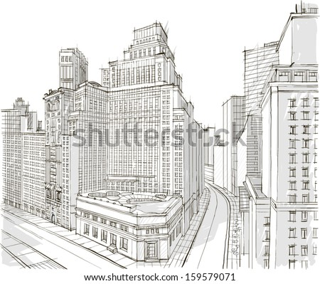 Architecture - Illustration - stock vector