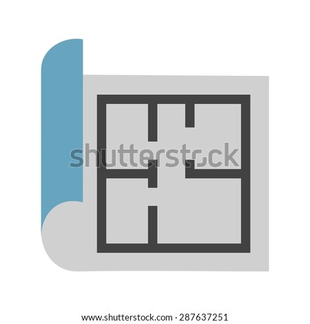 Floor plan icons stock vector 481438291 shutterstock for Construction drawing apps