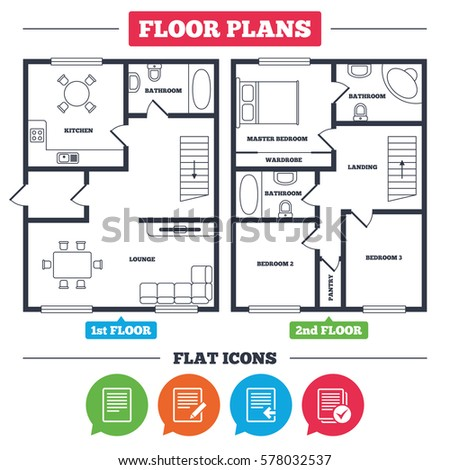 architecture plan furniture house floor planのベクター画像素材