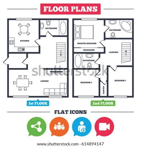 Architecture Plan Furniture House Floor Plan Stock Vector 614894147 ...