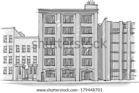 architectural building sketches. Architecture. Sketch. Drawing Of Building.City Architectural Building Sketches A