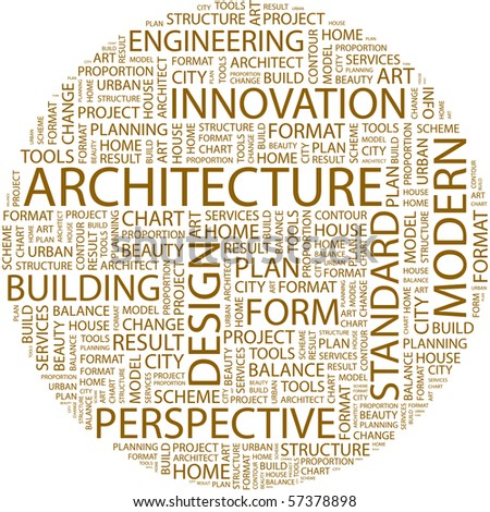 architecture word collage on white background stock vector 57378898