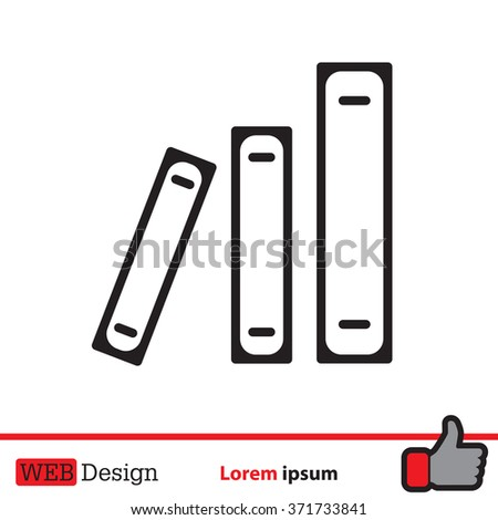 Archive folders vector icon - stock vector