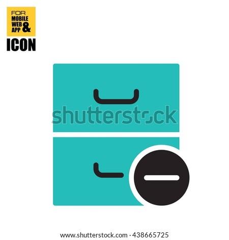 archive minus icon - stock vector
