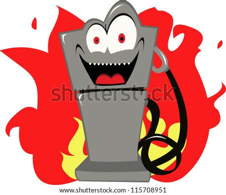 are you frightened of expensive gas too? - stock vector