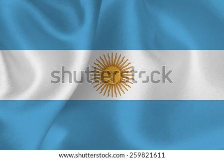 Argentina flag flag - stock vector