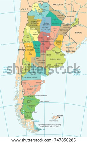 Santa Fe Argentina Stock Images RoyaltyFree Images Vectors - Argentina map detailed