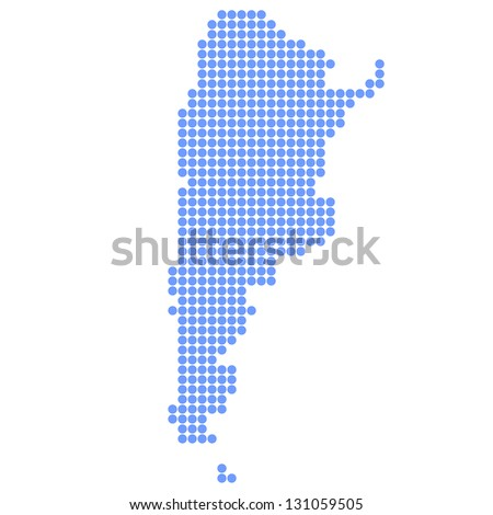 Argentina map round - stock vector