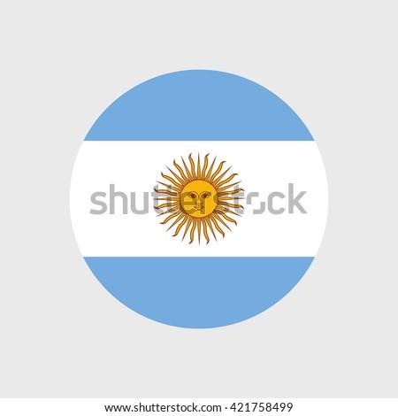 Argentina national flag - stock vector