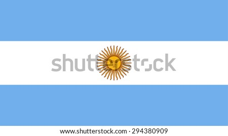 Argentina state national flag. Vector EPS8 - stock vector