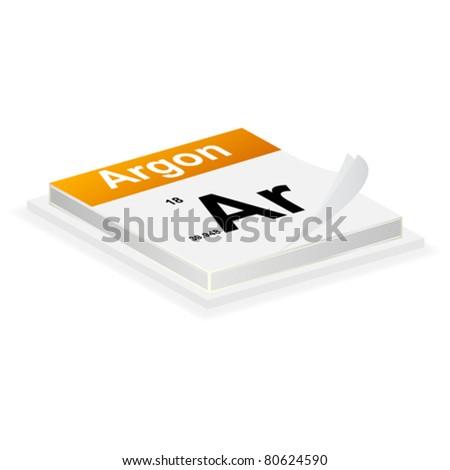 argon button - stock vector