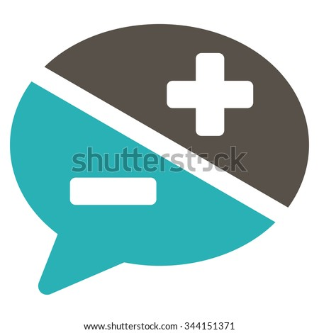 Arguments vector icon. Style is bicolor flat symbol, grey and cyan colors, rounded angles, white background. - stock vector