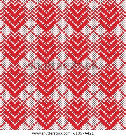 Argyle Fairisle Seamless Knitting Pattern Stock Vector 658265842 ...