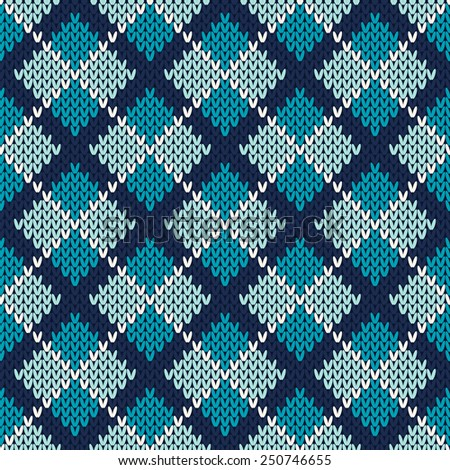 Knit Argyle Pattern : Stock Images similar to ID 119337313 - knitted wool pattern background ...