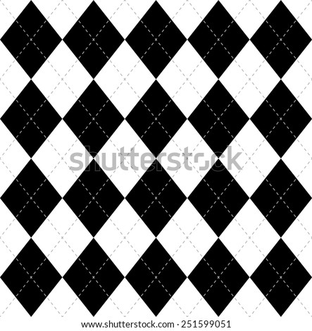 Argyle vector seamless pattern, vector background. - stock vector