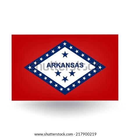 Arkansas Flag - stock vector