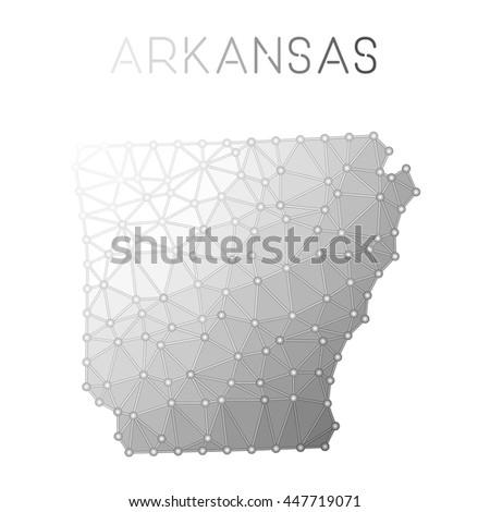 Vector Arkansas Map Outline Retro Sunburst Stock Vector - Arkansas on the us map