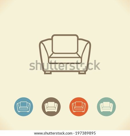 Armchair - stock vector