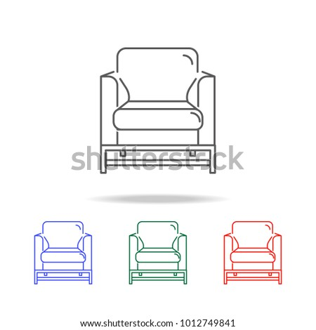 Armchair Icon. Element Of Furniture And Household Multi Colored Icons For  Mobile Concept And Web