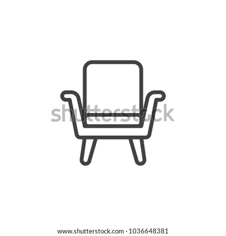 Superbe Armchair Outline Icon. Linear Style Sign For Mobile Concept And Web Design.  Chair Simple