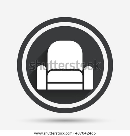 Modern Furniture Icon sofa icon vector illustration on white stock vector 391852720