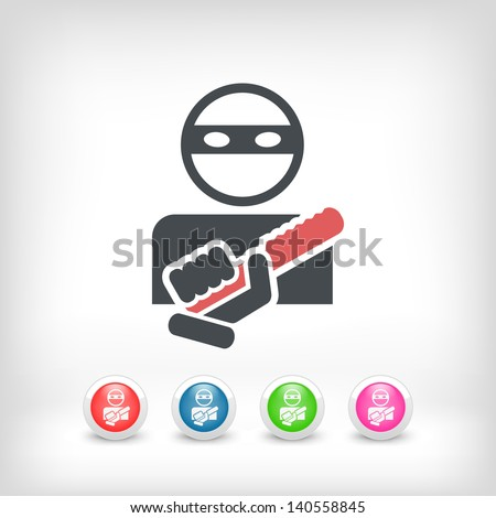 Armed bandit concept icon - stock vector