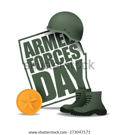 Armed Forces Day icon EPS 10 vector royalty free stock illustration for greeting card, ad, promotion, poster, flier, blog, article, social media, marketing - stock vector