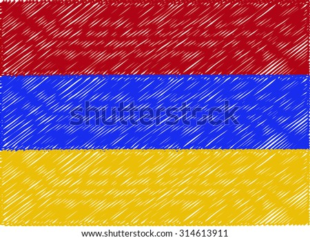 armenia flag embroidered zigzag