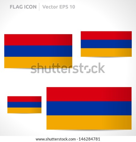 Armenia Flag Template Vector Symbol Design Stock Vector Hd Royalty