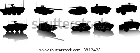 Armored Vehicles - stock vector