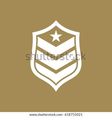army military logo design vector stock vector royalty free