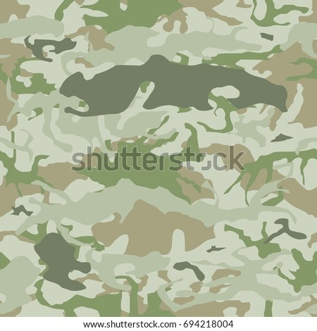 Army camouflage seamless vector pattern military stock vector army camouflage seamless vector pattern military camo texture toneelgroepblik Choice Image