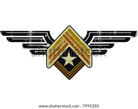 army grunge emblem - stock vector