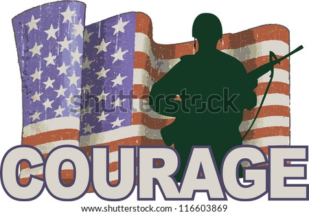 army man courage - stock vector