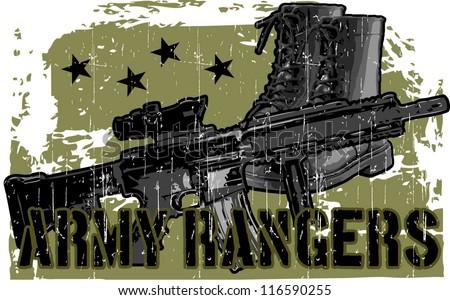 army ranger - stock vector