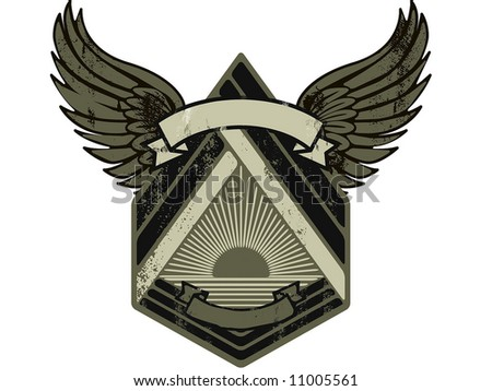 army shield - stock vector