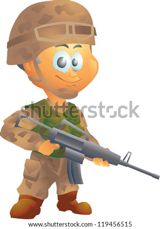 Army soldier - stock vector
