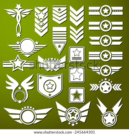 Army Star - stock vector