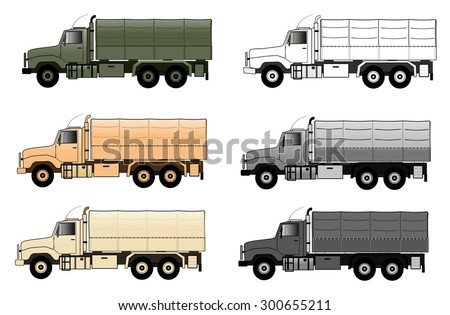 Army truck - stock vector