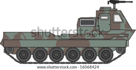 army vehicle - vector