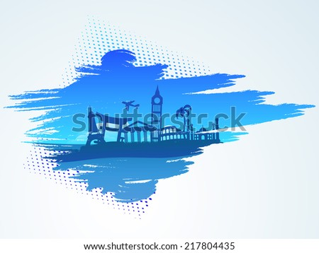 Around the world traveling concept with famous monuments.  - stock vector