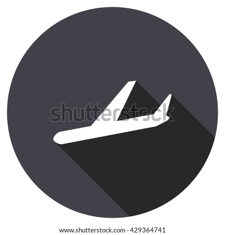 arrivals vector icon, round flat design button, web and mobile app illustration - stock vector