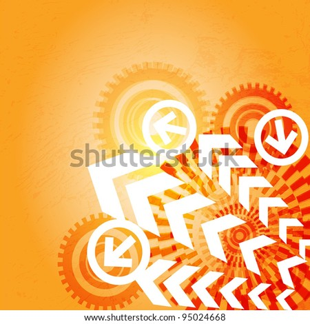 Arrow abstract vector background. - stock vector