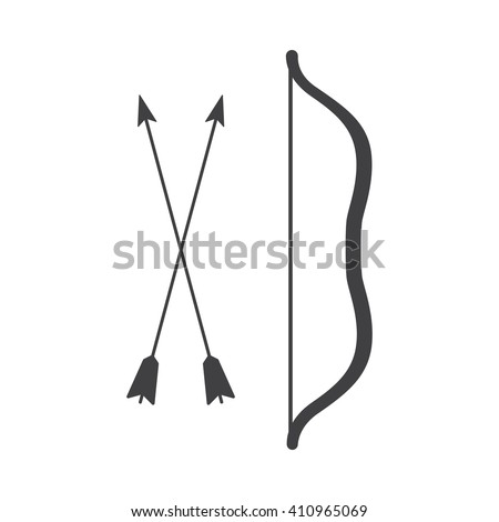 Arrow and bow Icon Vector Illustration on the white background. - stock vector