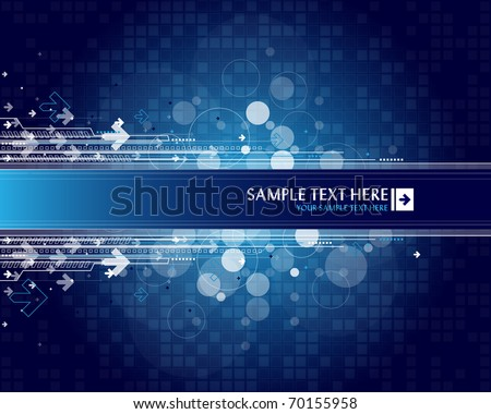 Arrow background with place for your text - stock vector