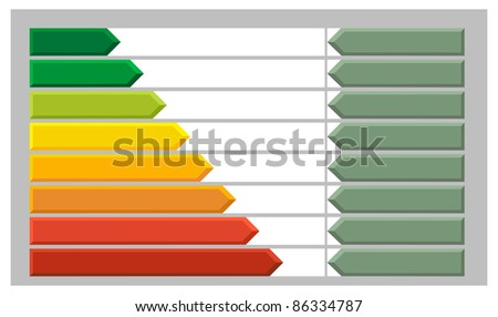Arrow Bar Chart - stock vector