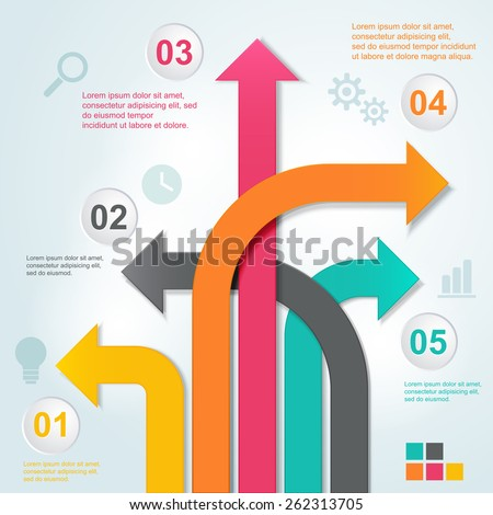 Arrow business template. Vector illustration. - stock vector